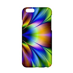 Bright Flower Fractal Star Floral Rainbow Apple Iphone 6/6s Hardshell Case by Mariart