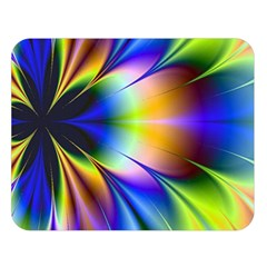 Bright Flower Fractal Star Floral Rainbow Double Sided Flano Blanket (large)  by Mariart