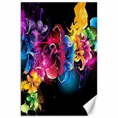 Abstract Patterns Lines Colors Flowers Floral Butterfly Canvas 24  X 36  by Mariart