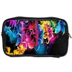 Abstract Patterns Lines Colors Flowers Floral Butterfly Toiletries Bags by Mariart