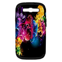 Abstract Patterns Lines Colors Flowers Floral Butterfly Samsung Galaxy S Iii Hardshell Case (pc+silicone) by Mariart