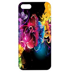 Abstract Patterns Lines Colors Flowers Floral Butterfly Apple Iphone 5 Hardshell Case With Stand by Mariart