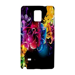 Abstract Patterns Lines Colors Flowers Floral Butterfly Samsung Galaxy Note 4 Hardshell Case by Mariart
