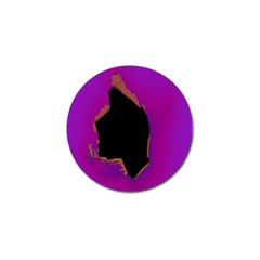 Buffalo Fractal Black Purple Space Golf Ball Marker by Mariart