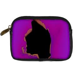 Buffalo Fractal Black Purple Space Digital Camera Cases by Mariart
