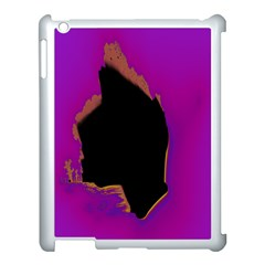 Buffalo Fractal Black Purple Space Apple Ipad 3/4 Case (white) by Mariart