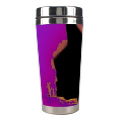 Buffalo Fractal Black Purple Space Stainless Steel Travel Tumblers by Mariart