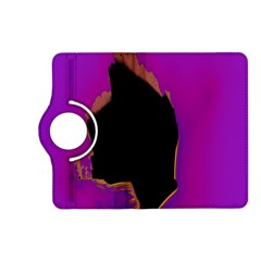 Buffalo Fractal Black Purple Space Kindle Fire Hd (2013) Flip 360 Case by Mariart
