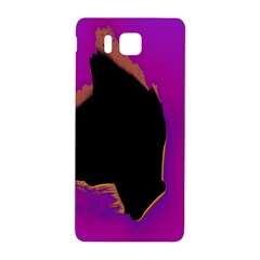 Buffalo Fractal Black Purple Space Samsung Galaxy Alpha Hardshell Back Case by Mariart