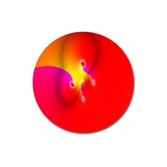 Complex Orange Red Pink Hole Yellow Magnet 3  (round) by Mariart