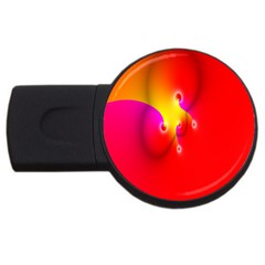 Complex Orange Red Pink Hole Yellow Usb Flash Drive Round (4 Gb) by Mariart