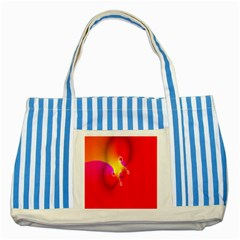 Complex Orange Red Pink Hole Yellow Striped Blue Tote Bag by Mariart