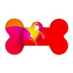 Complex Orange Red Pink Hole Yellow Dog Tag Bone (one Side) by Mariart