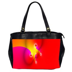 Complex Orange Red Pink Hole Yellow Office Handbags (2 Sides)  by Mariart