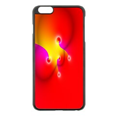 Complex Orange Red Pink Hole Yellow Apple Iphone 6 Plus/6s Plus Black Enamel Case by Mariart