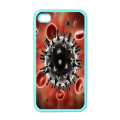 Cancel Cells Broken Bacteria Virus Bold Apple Iphone 4 Case (color) by Mariart