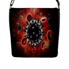 Cancel Cells Broken Bacteria Virus Bold Flap Messenger Bag (l)  by Mariart