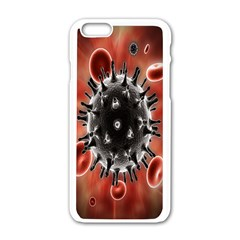 Cancel Cells Broken Bacteria Virus Bold Apple Iphone 6/6s White Enamel Case by Mariart