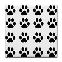 Claw Black Foot Chat Paw Animals Tile Coasters by Mariart