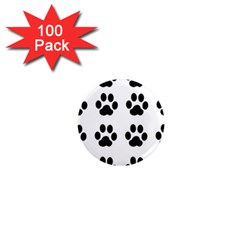 Claw Black Foot Chat Paw Animals 1  Mini Magnets (100 Pack)  by Mariart