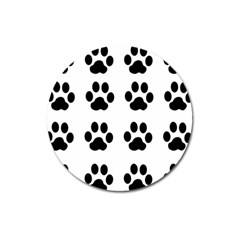 Claw Black Foot Chat Paw Animals Magnet 3  (round) by Mariart