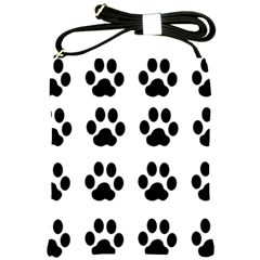 Claw Black Foot Chat Paw Animals Shoulder Sling Bags by Mariart