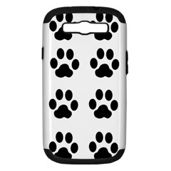 Claw Black Foot Chat Paw Animals Samsung Galaxy S Iii Hardshell Case (pc+silicone) by Mariart