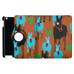 Zebra Horse Animals Apple Ipad 2 Flip 360 Case by Mariart