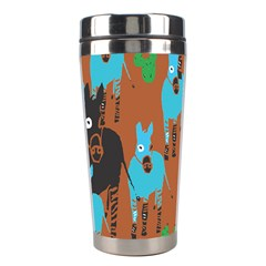 Zebra Horse Animals Stainless Steel Travel Tumblers by Mariart