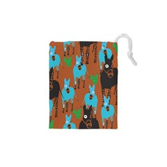 Zebra Horse Animals Drawstring Pouches (xs)  by Mariart