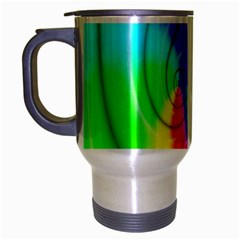 Complex Orange Red Pink Hole Yellow Green Blue Travel Mug (silver Gray) by Mariart