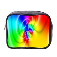 Complex Orange Red Pink Hole Yellow Green Blue Mini Toiletries Bag 2 Side by Mariart