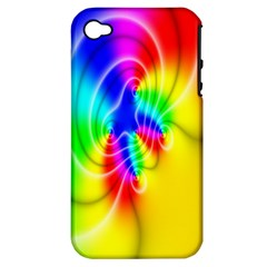 Complex Orange Red Pink Hole Yellow Green Blue Apple Iphone 4/4s Hardshell Case (pc+silicone) by Mariart