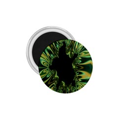 Burning Ship Fractal Silver Green Hole Black 1 75  Magnets by Mariart