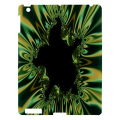 Burning Ship Fractal Silver Green Hole Black Apple Ipad 3/4 Hardshell Case by Mariart