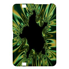 Burning Ship Fractal Silver Green Hole Black Kindle Fire Hd 8 9  by Mariart