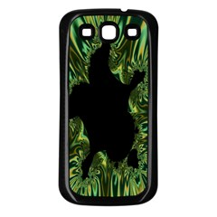 Burning Ship Fractal Silver Green Hole Black Samsung Galaxy S3 Back Case (black) by Mariart