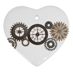 Hour Time Iron Ornament (heart) by Mariart