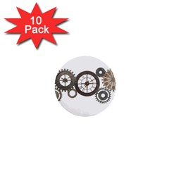 Hour Time Iron 1  Mini Buttons (10 Pack)  by Mariart