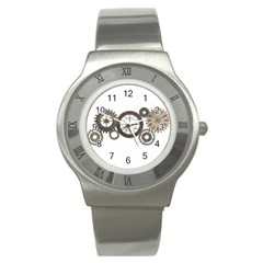 Hour Time Iron Stainless Steel Watch