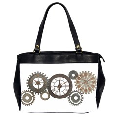 Hour Time Iron Office Handbags (2 Sides)  by Mariart