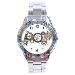 Hour Time Iron Stainless Steel Analogue Watch by Mariart