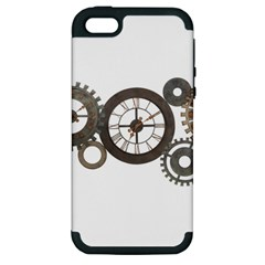 Hour Time Iron Apple Iphone 5 Hardshell Case (pc+silicone) by Mariart