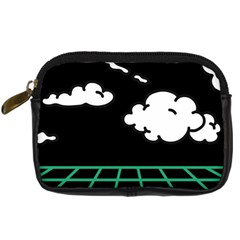 Illustration Cloud Line White Green Black Spot Polka Digital Camera Cases by Mariart