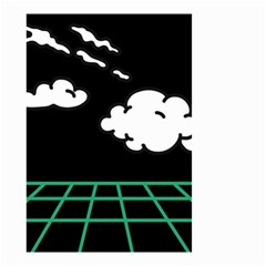 Illustration Cloud Line White Green Black Spot Polka Small Garden Flag (two Sides) by Mariart