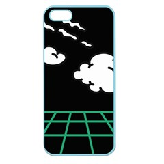 Illustration Cloud Line White Green Black Spot Polka Apple Seamless Iphone 5 Case (color) by Mariart