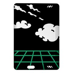 Illustration Cloud Line White Green Black Spot Polka Amazon Kindle Fire Hd (2013) Hardshell Case by Mariart