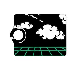 Illustration Cloud Line White Green Black Spot Polka Kindle Fire Hd (2013) Flip 360 Case by Mariart