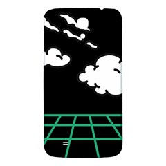 Illustration Cloud Line White Green Black Spot Polka Samsung Galaxy Mega I9200 Hardshell Back Case by Mariart