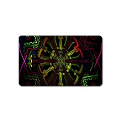 Inner Peace Star Space Rainbow Magnet (name Card) by Mariart